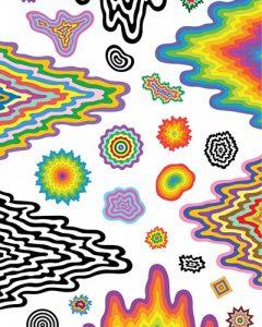 Cosmic Drip Die-Cut Wall Vinyls